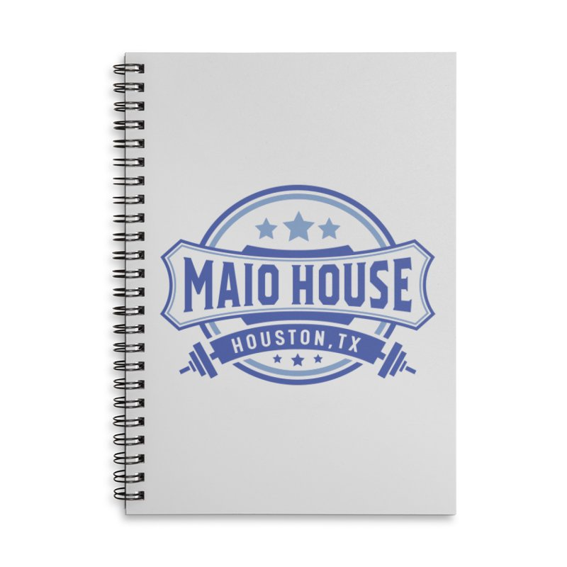 Maio House (The Best Thing) (Blue Inks) Accessories Lined Spiral Notebook by M A R I A N A    Z A P A T A