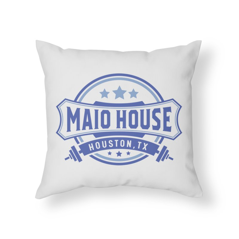 Maio House (The Best Thing) (Blue Inks) Home Throw Pillow by M A R I A N A    Z A P A T A