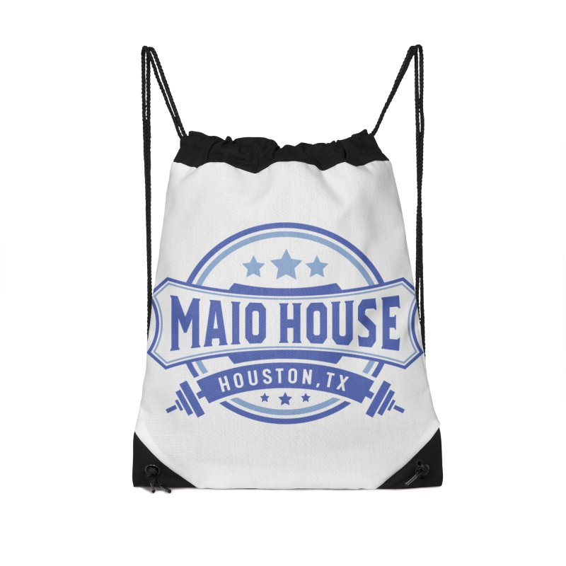 Maio House (The Best Thing) (Blue Inks) Accessories Drawstring Bag Bag by M A R I A N A    Z A P A T A