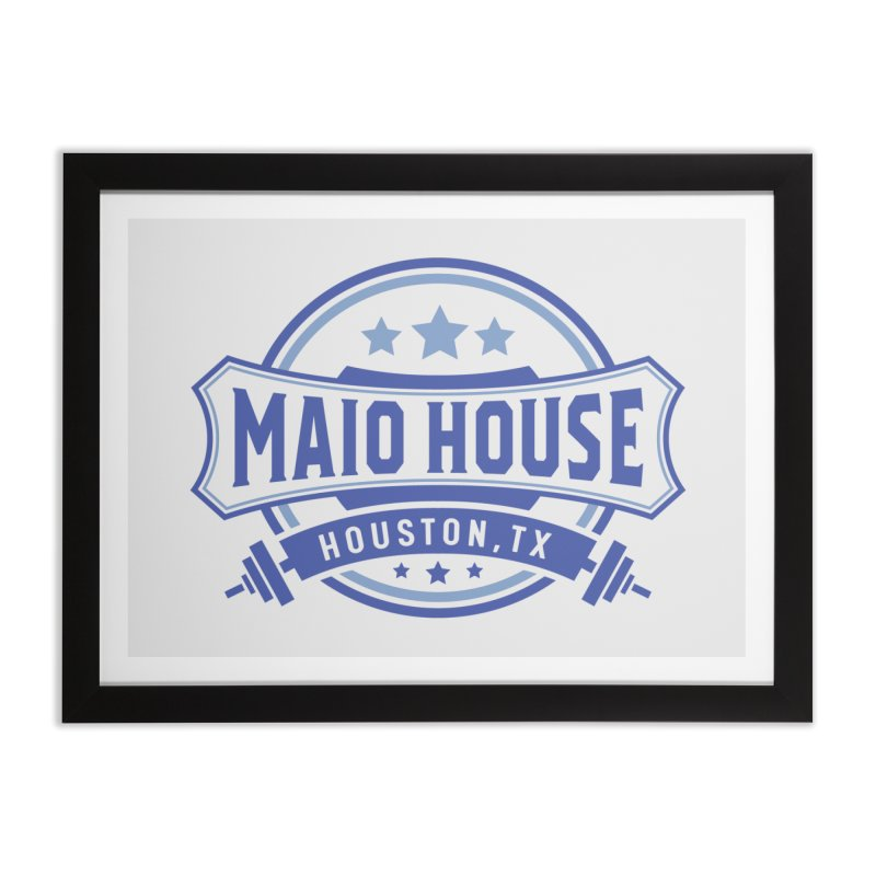 Maio House (The Best Thing) (Blue Inks) Home Framed Fine Art Print by M A R I A N A    Z A P A T A