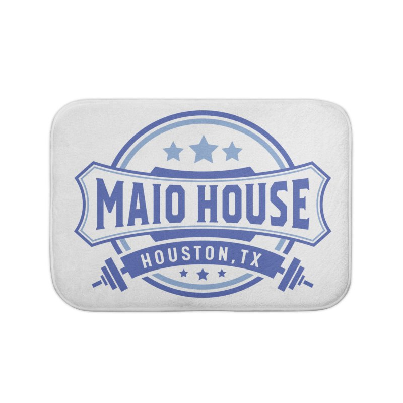 Maio House (The Best Thing) (Blue Inks) Home Bath Mat by M A R I A N A    Z A P A T A