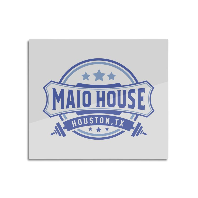 Maio House (The Best Thing) (Blue Inks) Home Mounted Aluminum Print by M A R I A N A    Z A P A T A