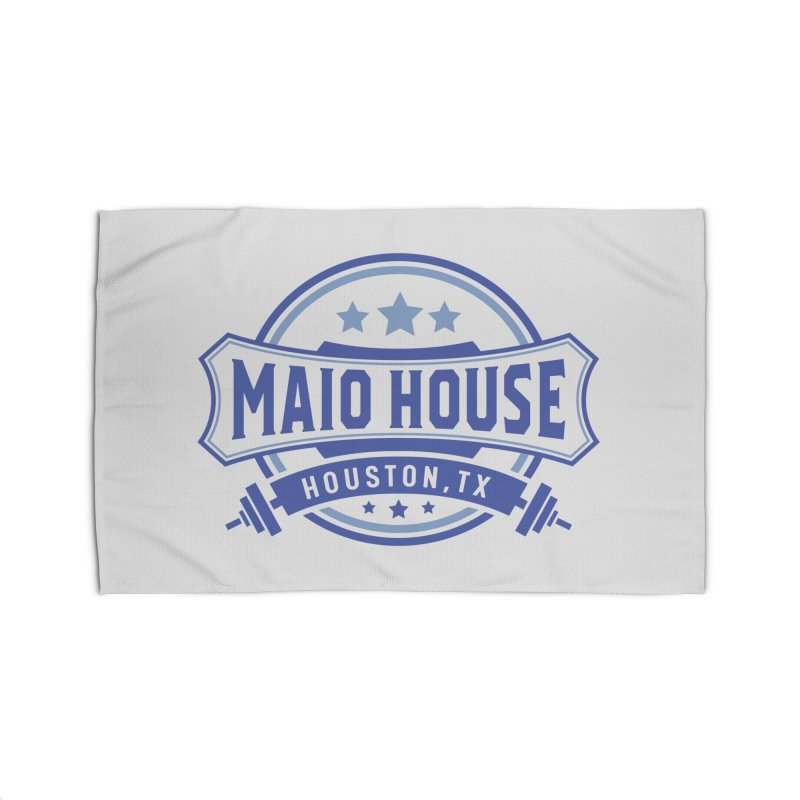 Maio House (The Best Thing) (Blue Inks) Home Rug by M A R I A N A    Z A P A T A