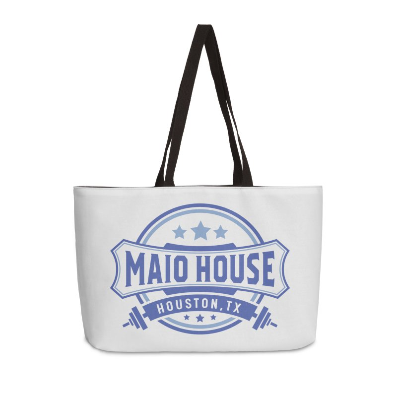 Maio House (The Best Thing) (Blue Inks) Accessories Weekender Bag Bag by M A R I A N A    Z A P A T A