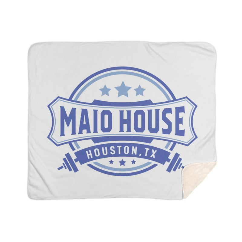 Maio House (The Best Thing) (Blue Inks) Home Sherpa Blanket Blanket by M A R I A N A    Z A P A T A
