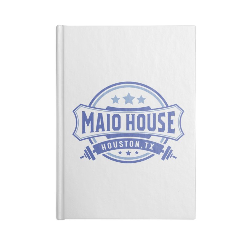 Maio House (The Best Thing) (Blue Inks) Accessories Lined Journal Notebook by M A R I A N A    Z A P A T A