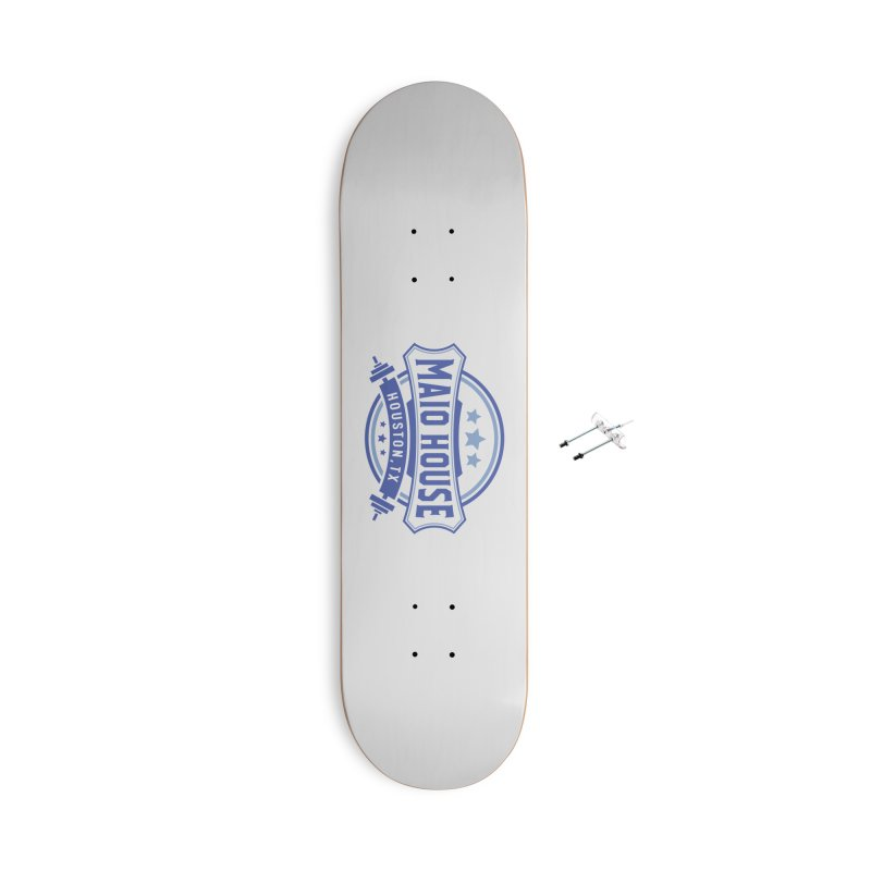 Maio House (The Best Thing) (Blue Inks) Accessories With Hanging Hardware Skateboard by M A R I A N A    Z A P A T A