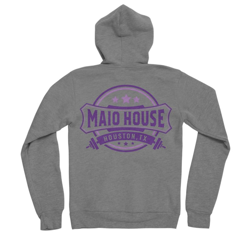 Maio House (The Best Thing) (Purple Inks) Men's Sponge Fleece Zip-Up Hoody by M A R I A N A    Z A P A T A