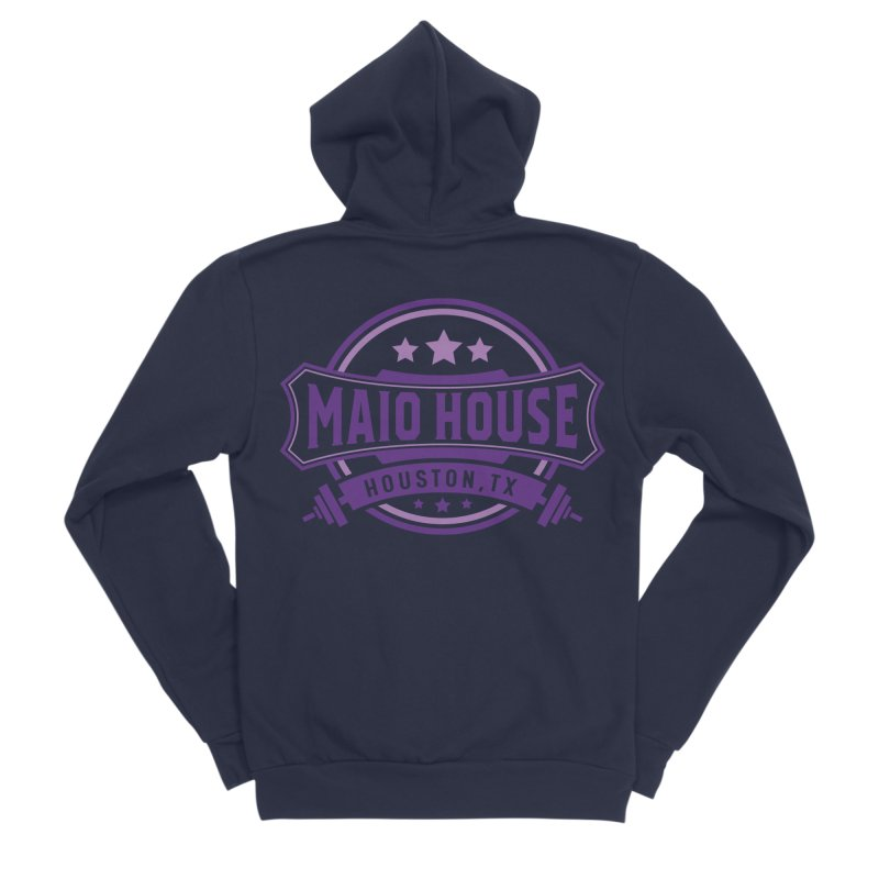Maio House (The Best Thing) (Purple Inks) Women's Sponge Fleece Zip-Up Hoody by M A R I A N A    Z A P A T A