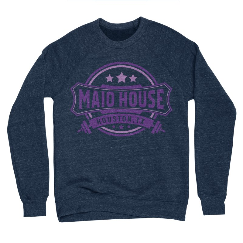 Maio House (The Best Thing) (Purple Inks) Men's Sponge Fleece Sweatshirt by M A R I A N A    Z A P A T A