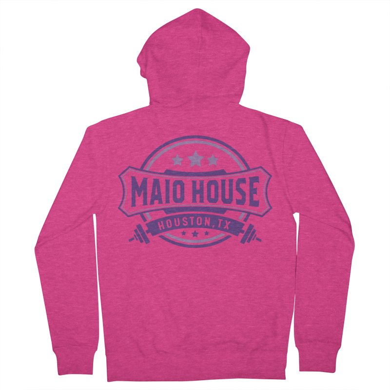 Maio House (The Best Thing) (Purple Inks) Women's French Terry Zip-Up Hoody by M A R I A N A    Z A P A T A