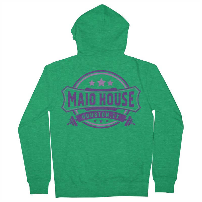 Maio House (The Best Thing) (Purple Inks) Men's French Terry Zip-Up Hoody by M A R I A N A    Z A P A T A