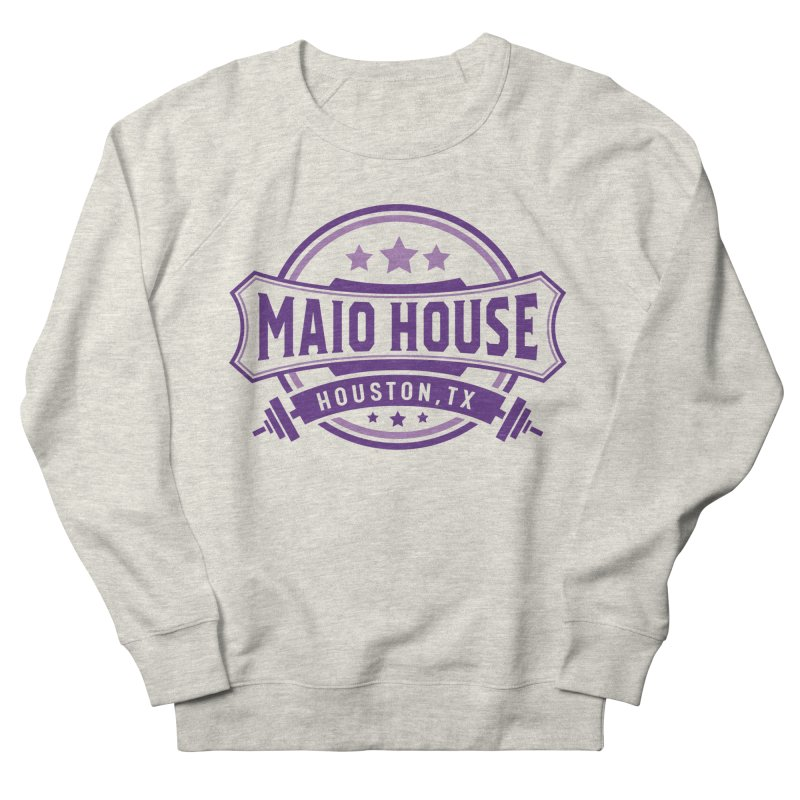 Maio House (The Best Thing) (Purple Inks) Men's French Terry Sweatshirt by M A R I A N A    Z A P A T A