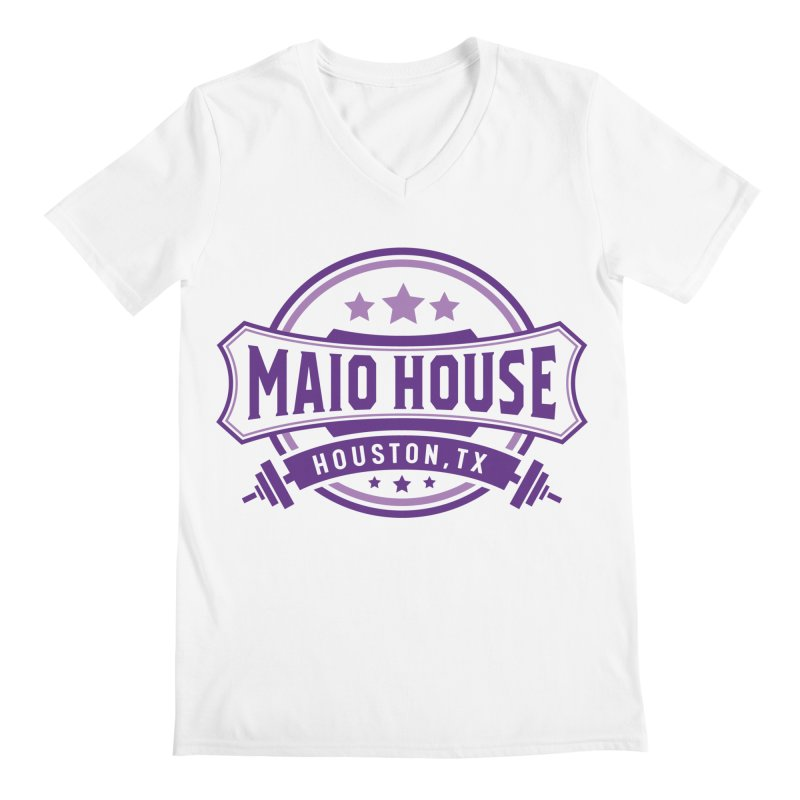 Maio House (The Best Thing) (Purple Inks) Men's V-Neck by M A R I A N A    Z A P A T A