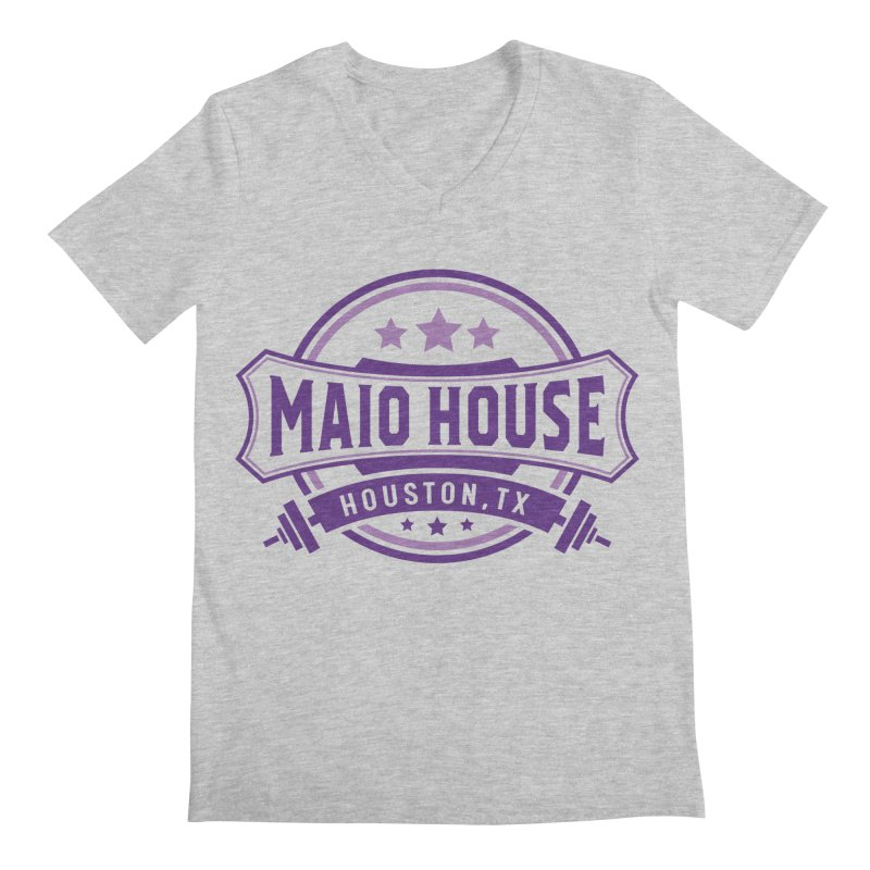 Maio House (The Best Thing) (Purple Inks) Men's Regular V-Neck by M A R I A N A    Z A P A T A