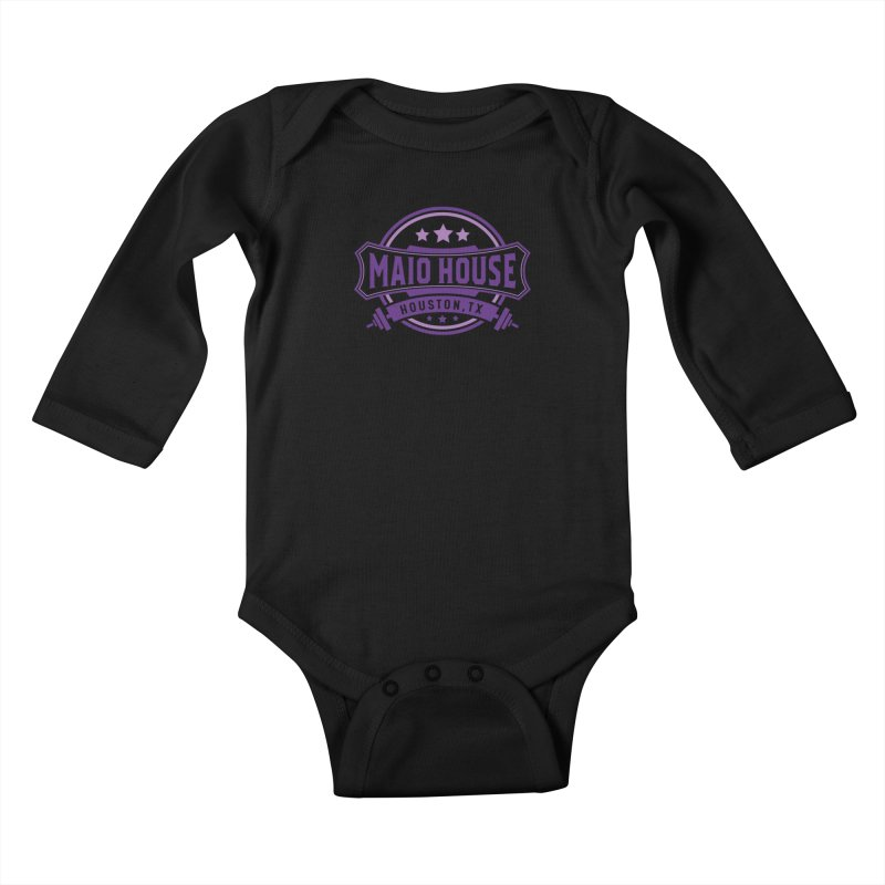 Maio House (The Best Thing) (Purple Inks) Kids Baby Longsleeve Bodysuit by M A R I A N A    Z A P A T A