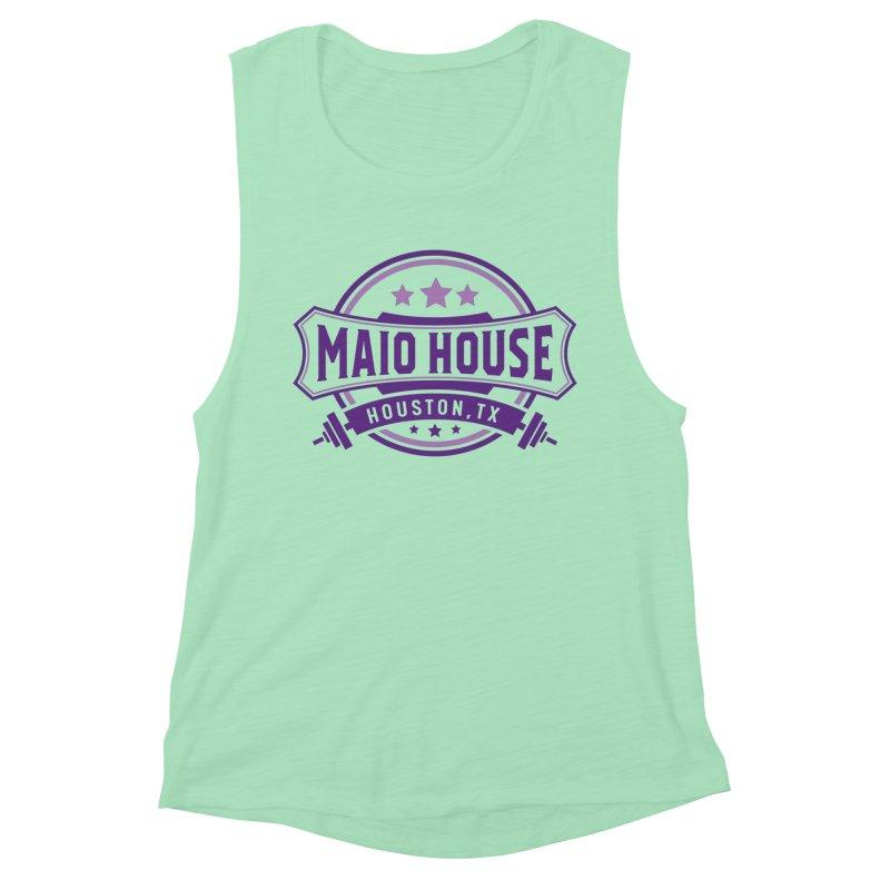 Maio House (The Best Thing) (Purple Inks) Women's Muscle Tank by M A R I A N A    Z A P A T A