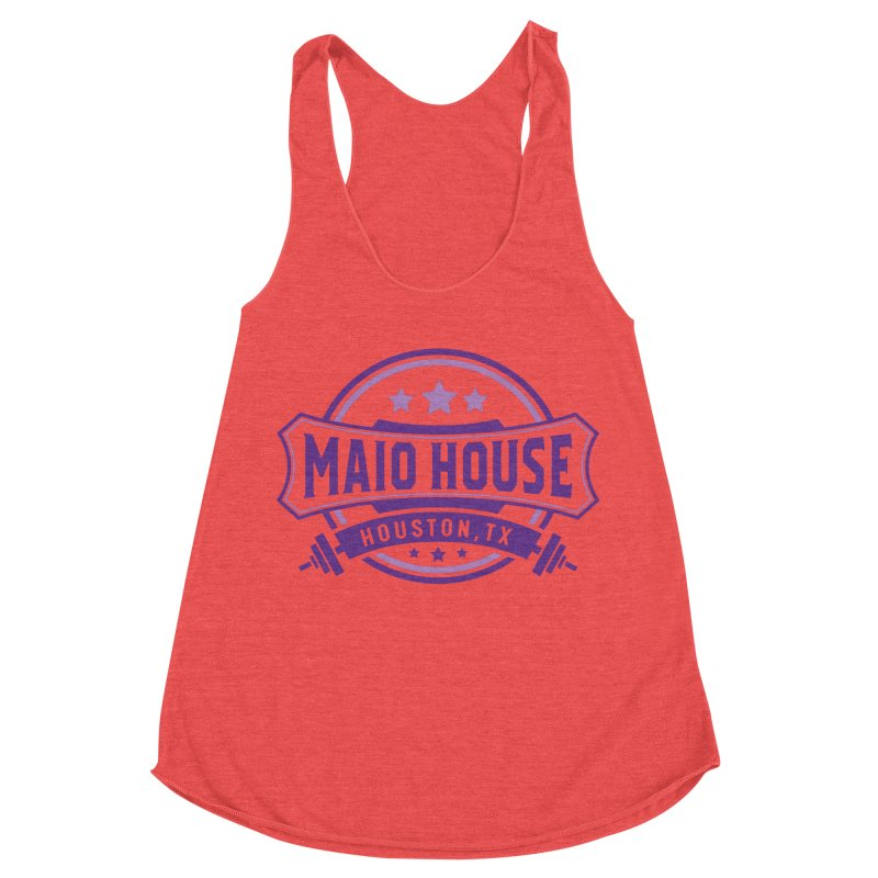 Maio House (The Best Thing) (Purple Inks) Women's Racerback Triblend Tank by M A R I A N A    Z A P A T A