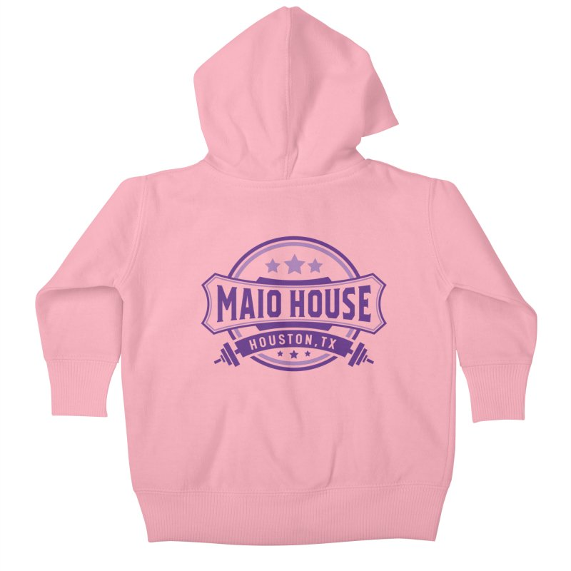 Maio House (The Best Thing) (Purple Inks) Kids Baby Zip-Up Hoody by M A R I A N A    Z A P A T A