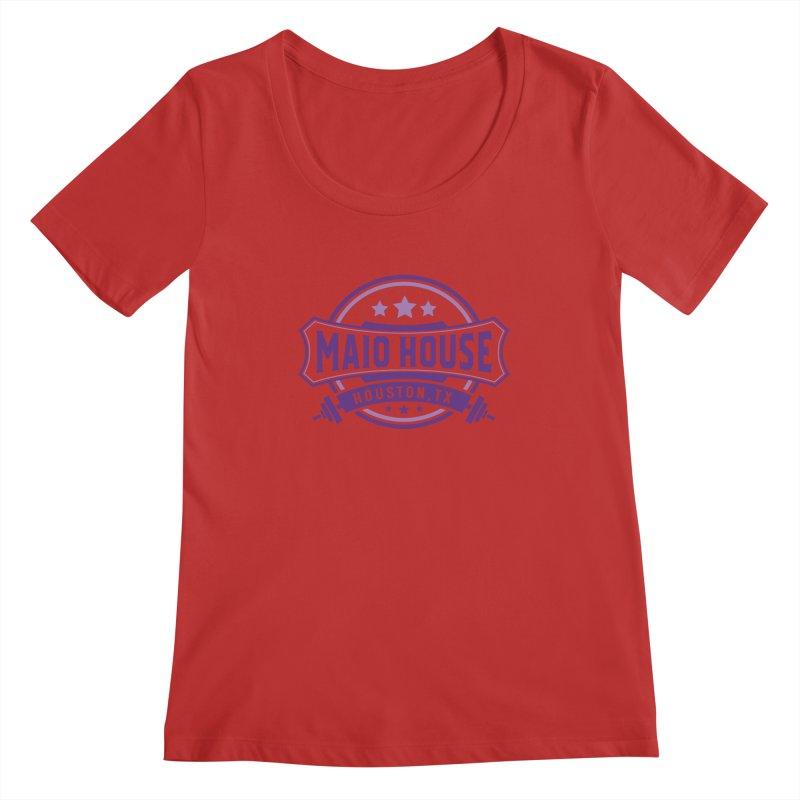 Maio House (The Best Thing) (Purple Inks) Women's Regular Scoop Neck by M A R I A N A    Z A P A T A