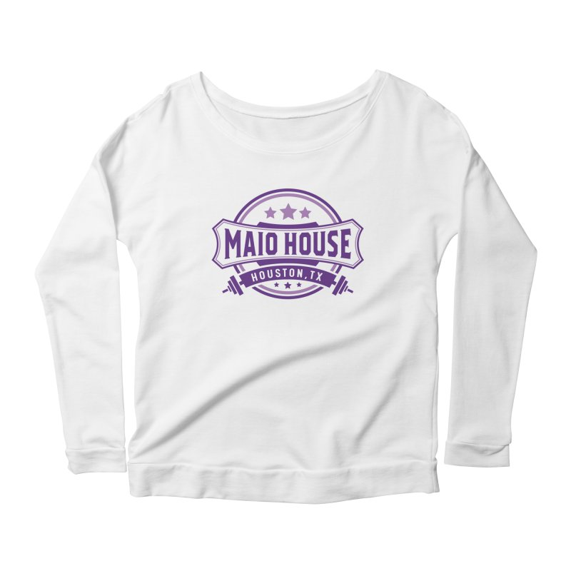 Maio House (The Best Thing) (Purple Inks) Women's Scoop Neck Longsleeve T-Shirt by M A R I A N A    Z A P A T A