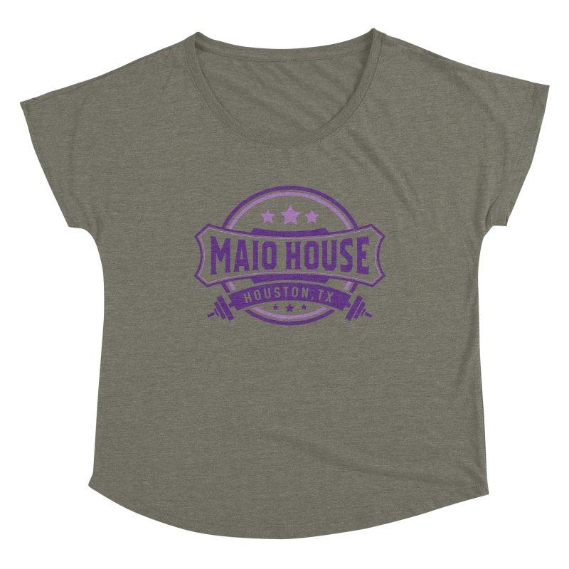 Maio House (The Best Thing) (Purple Inks) Women's Dolman Scoop Neck by M A R I A N A    Z A P A T A