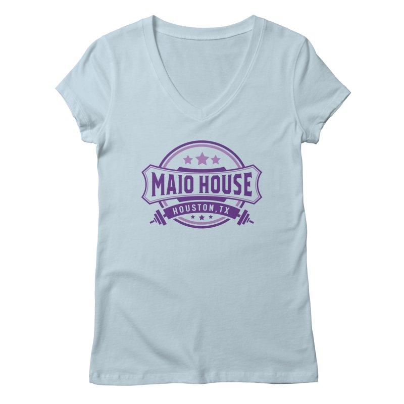 Maio House (The Best Thing) (Purple Inks) Women's Regular V-Neck by M A R I A N A    Z A P A T A
