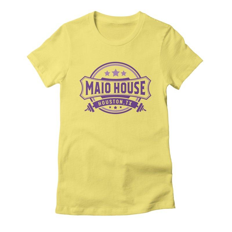 Maio House (The Best Thing) (Purple Inks) Women's Fitted T-Shirt by M A R I A N A    Z A P A T A