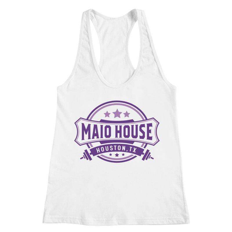 Maio House (The Best Thing) (Purple Inks) Women's Racerback Tank by M A R I A N A    Z A P A T A