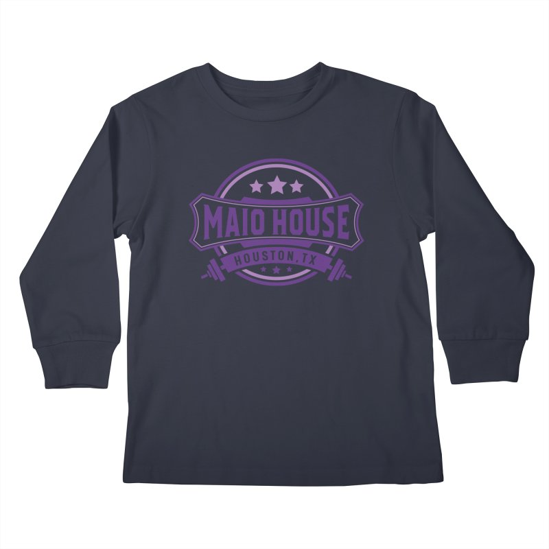 Maio House (The Best Thing) (Purple Inks) Kids Longsleeve T-Shirt by M A R I A N A    Z A P A T A