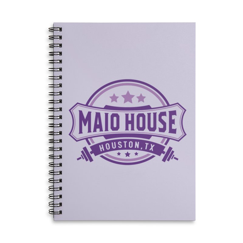 Maio House (The Best Thing) (Purple Inks) Accessories Lined Spiral Notebook by M A R I A N A    Z A P A T A