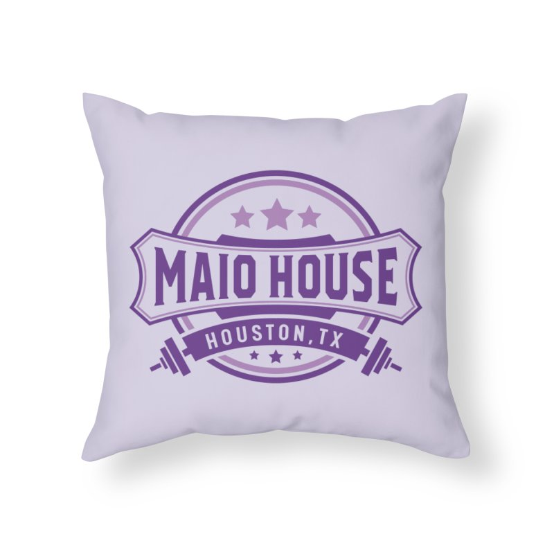 Maio House (The Best Thing) (Purple Inks) Home Throw Pillow by M A R I A N A    Z A P A T A