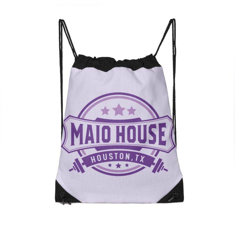 Maio House (The Best Thing) (Purple Inks) Accessories Drawstring Bag Bag by M A R I A N A    Z A P A T A