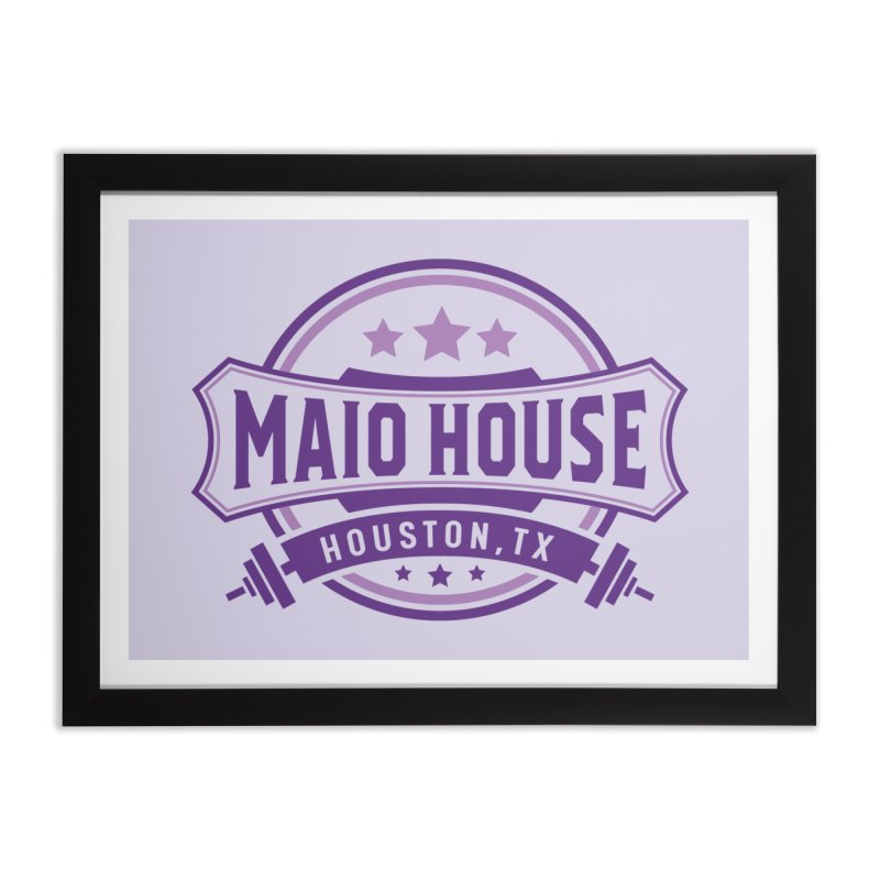 Maio House (The Best Thing) (Purple Inks) Home Framed Fine Art Print by M A R I A N A    Z A P A T A
