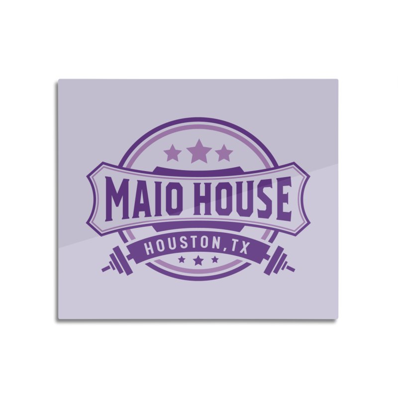Maio House (The Best Thing) (Purple Inks) Home Mounted Aluminum Print by M A R I A N A    Z A P A T A