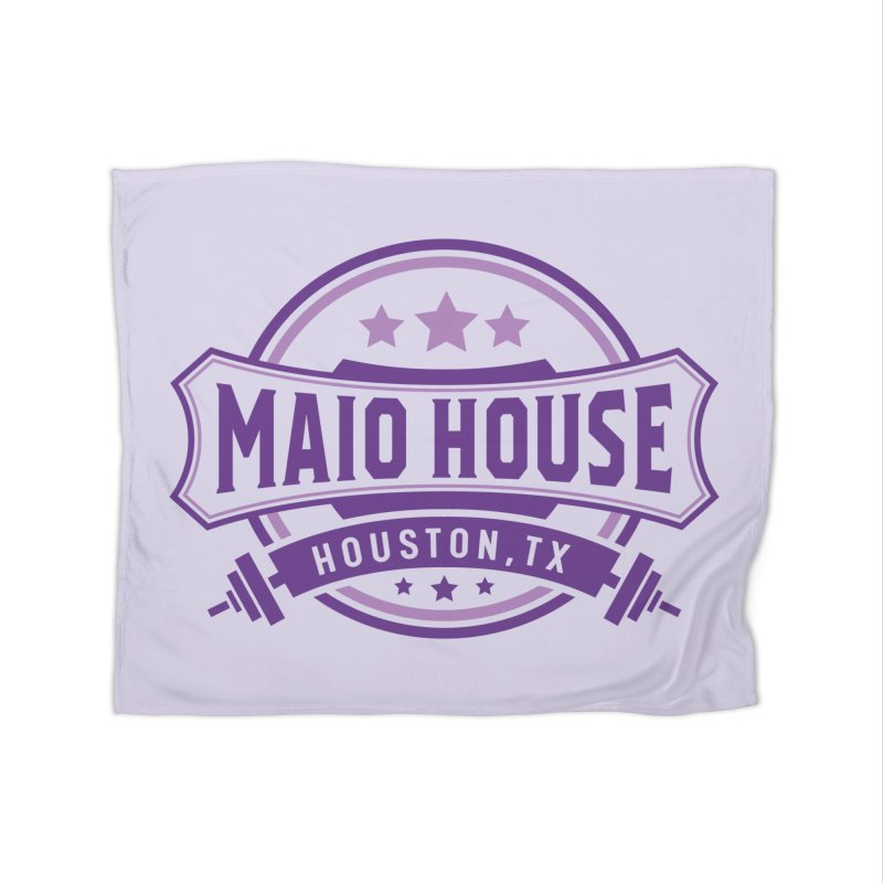 Maio House (The Best Thing) (Purple Inks) Home Fleece Blanket Blanket by M A R I A N A    Z A P A T A
