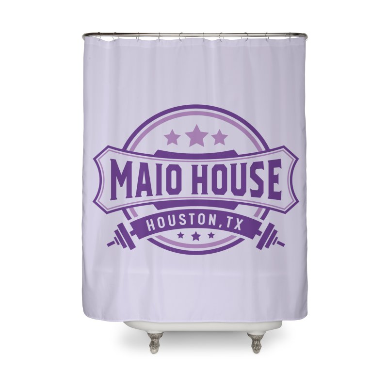 Maio House (The Best Thing) (Purple Inks) Home Shower Curtain by M A R I A N A    Z A P A T A