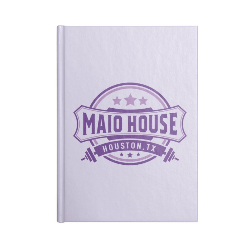 Maio House (The Best Thing) (Purple Inks) Accessories Lined Journal Notebook by M A R I A N A    Z A P A T A