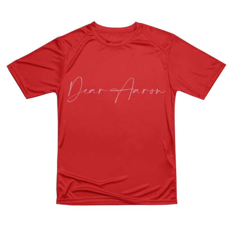Dear Aaron (Light Color Ink) Women's Performance Unisex T-Shirt by M A R I A N A    Z A P A T A