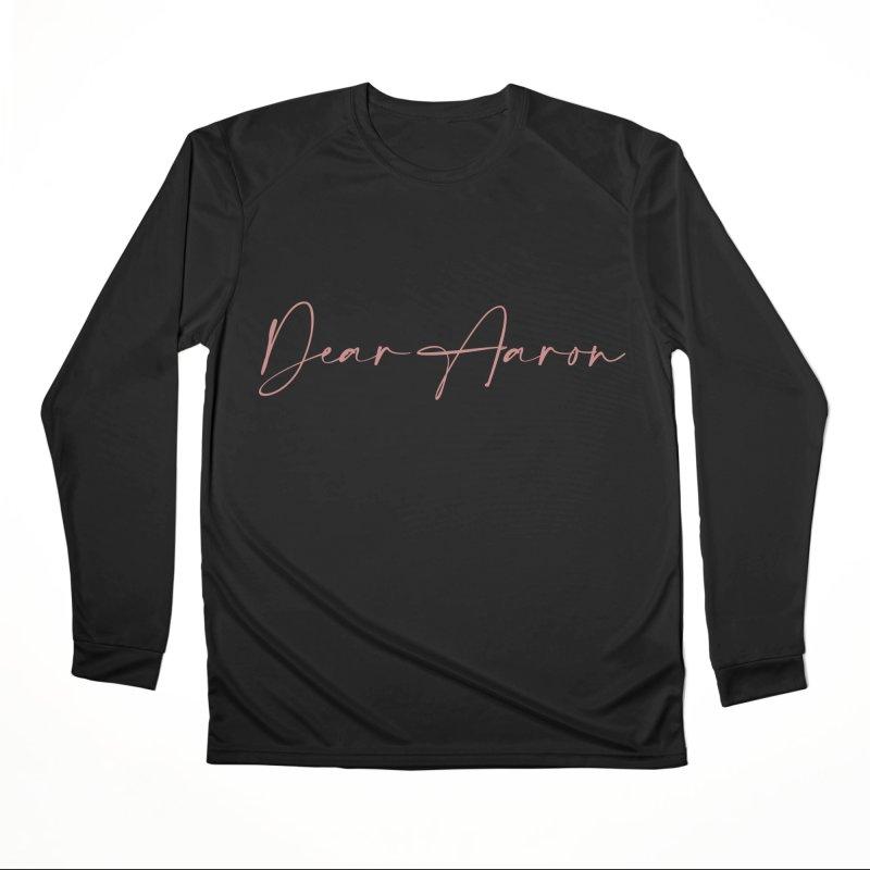 Dear Aaron (Light Color Ink) Men's Performance Longsleeve T-Shirt by M A R I A N A    Z A P A T A