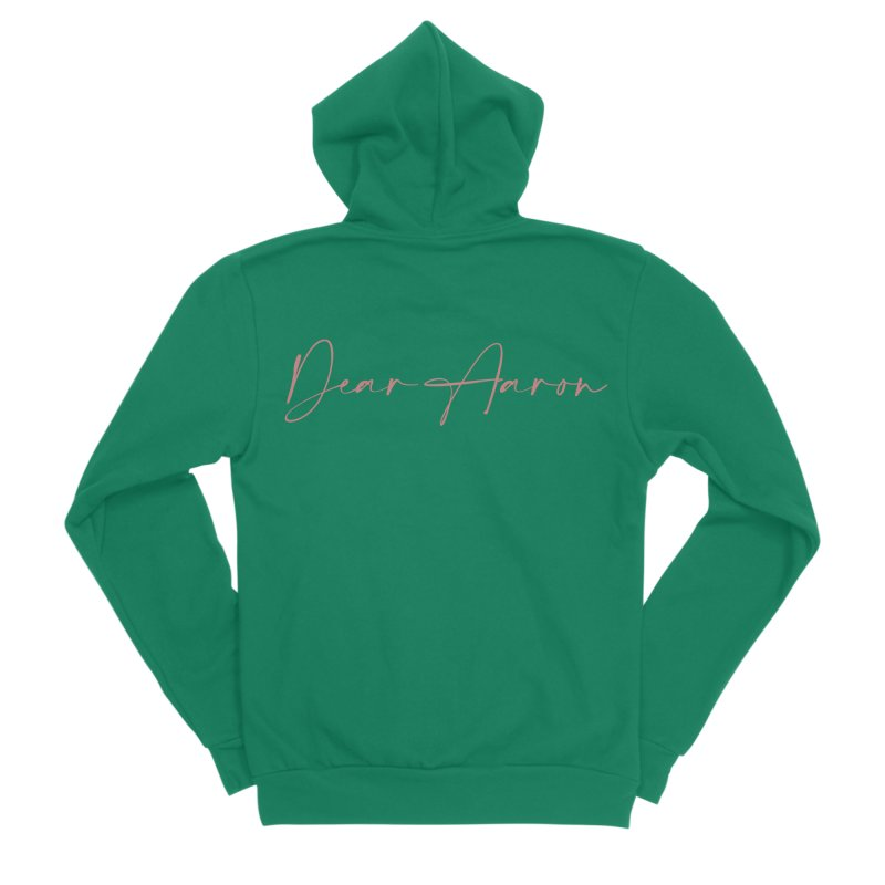 Dear Aaron (Light Color Ink) Men's Sponge Fleece Zip-Up Hoody by M A R I A N A    Z A P A T A