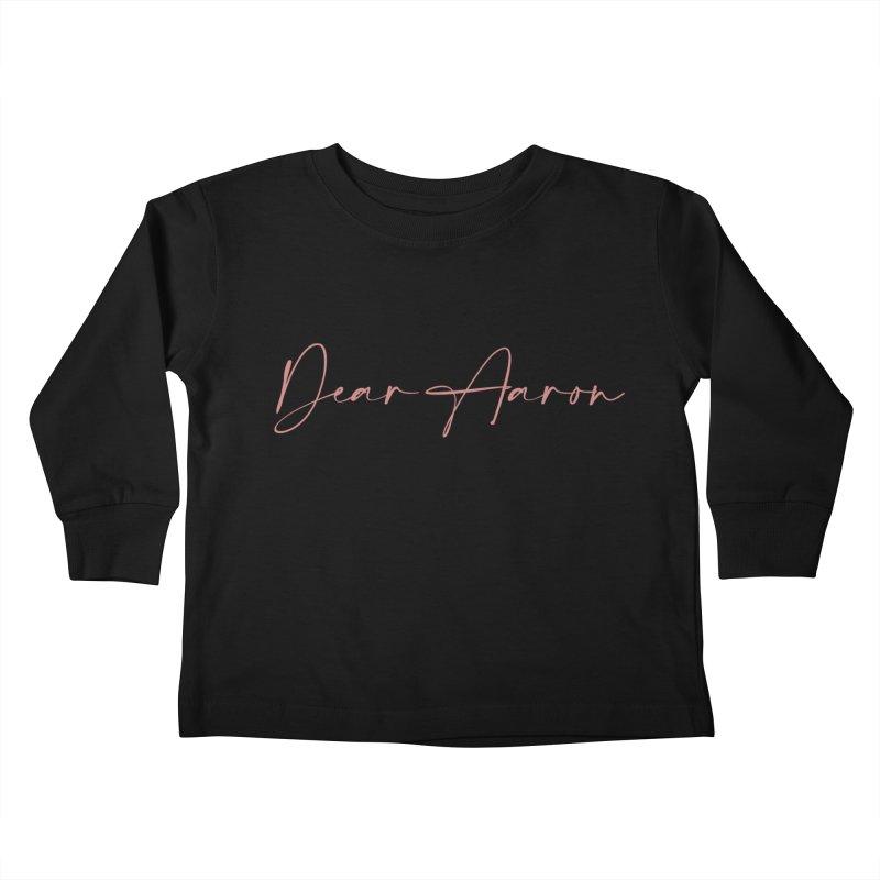 Dear Aaron (Light Color Ink) Kids Toddler Longsleeve T-Shirt by M A R I A N A    Z A P A T A