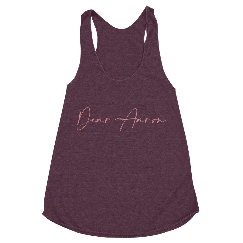 Dear Aaron (Light Color Ink) Women's Racerback Triblend Tank by M A R I A N A    Z A P A T A