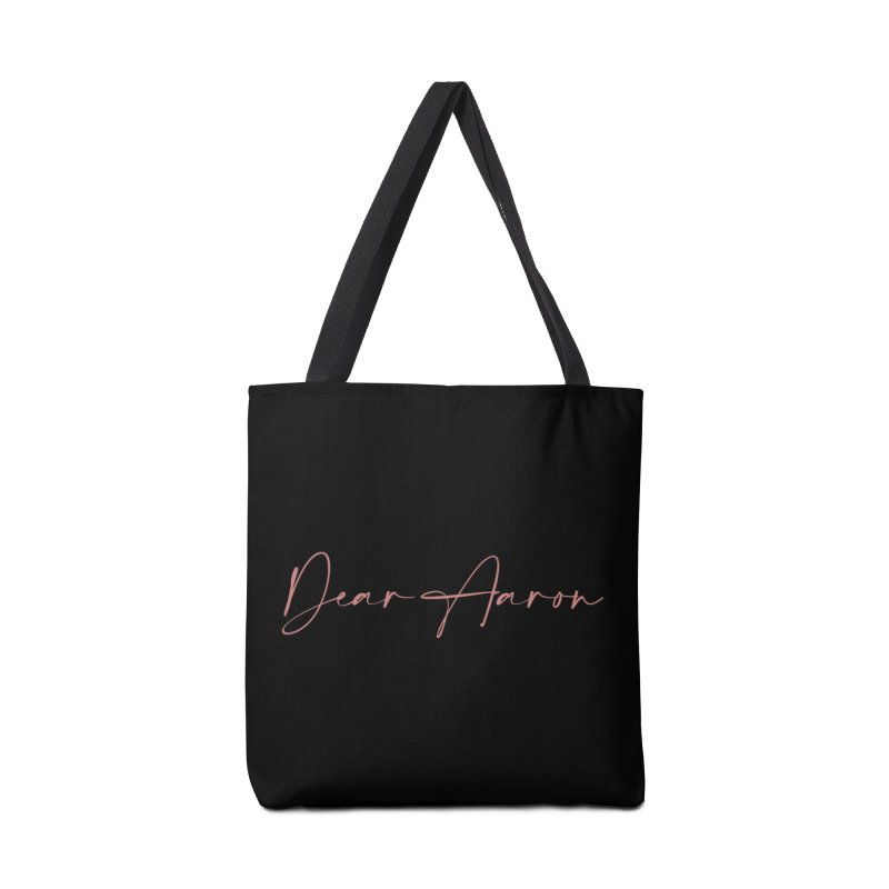 Dear Aaron (Light Color Ink) Accessories Bag by M A R I A N A    Z A P A T A