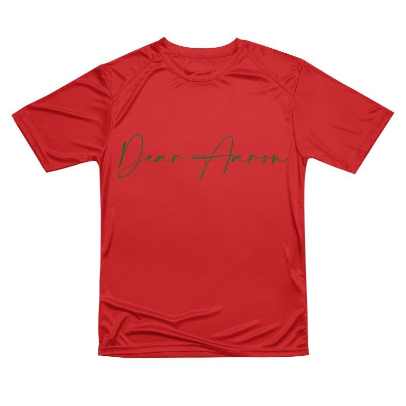 Dear Aaron (Dark Color Ink) Women's Performance Unisex T-Shirt by M A R I A N A    Z A P A T A