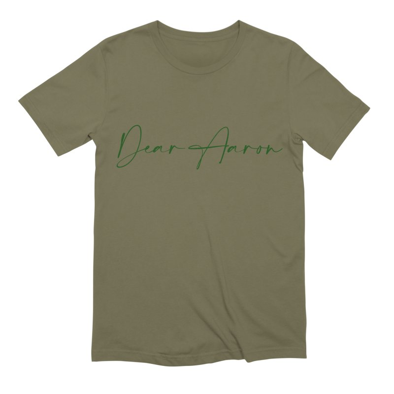 Dear Aaron (Dark Color Ink) Men's Extra Soft T-Shirt by M A R I A N A    Z A P A T A