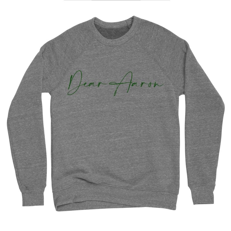 Dear Aaron (Dark Color Ink) Men's Sponge Fleece Sweatshirt by M A R I A N A    Z A P A T A