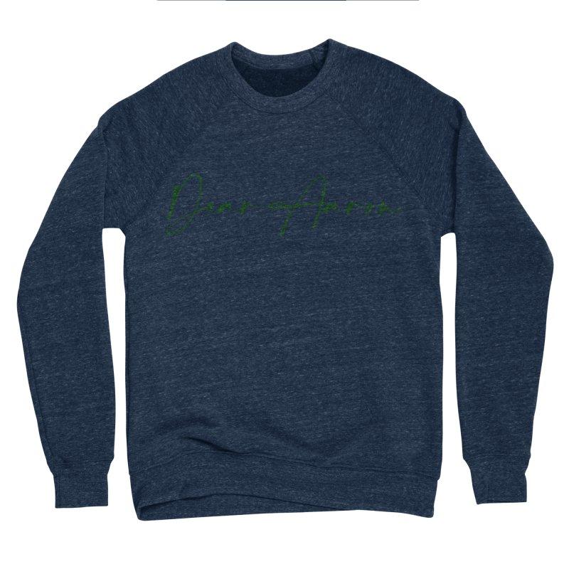 Dear Aaron (Dark Color Ink) Men's Sponge Fleece Sweatshirt by M A R I A N A    Z A P A T A