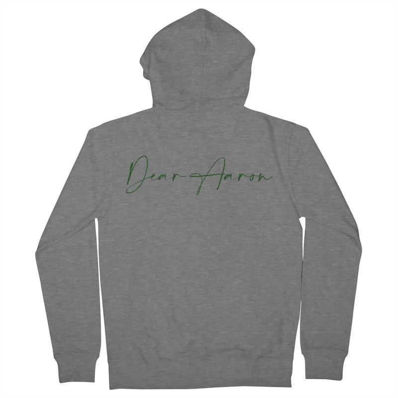 Dear Aaron (Dark Color Ink) Women's French Terry Zip-Up Hoody by M A R I A N A    Z A P A T A