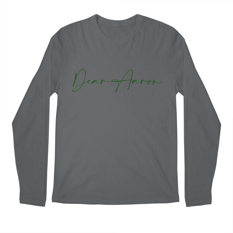Dear Aaron (Dark Color Ink) Men's Longsleeve T-Shirt by M A R I A N A    Z A P A T A